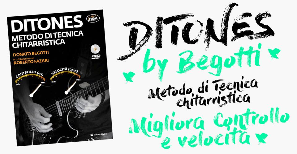 Ditones, esercizi di tecnica e meccanica per chitarra