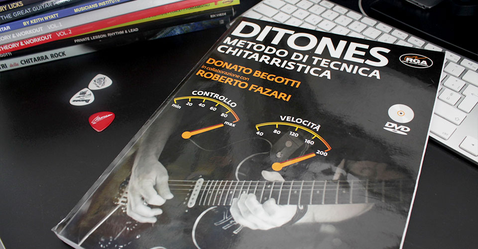 ditones metodo tecnica chitarra libro