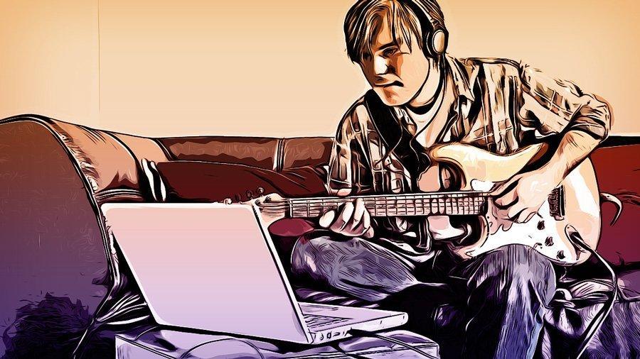 Il piacere di imparare a suonare la chitarra.