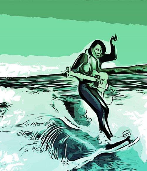 surf guitar chitarra surf