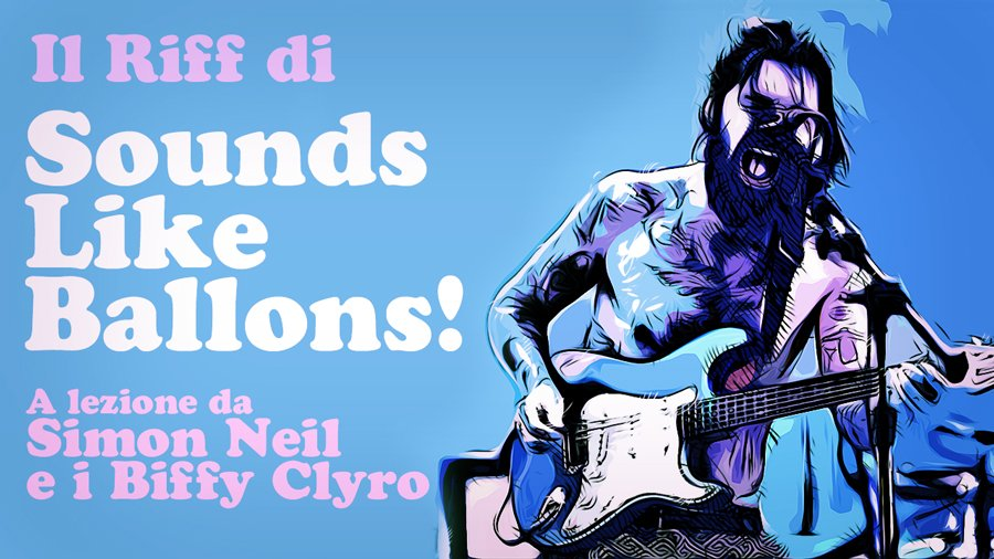 riff sounds like balloons biffy clyro simon neil live stratocaster