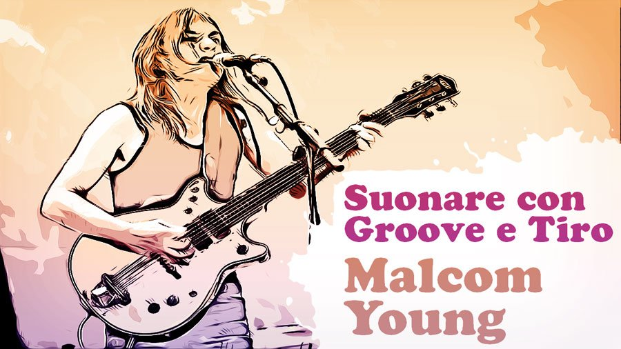 malcom young groove tiro chitarra elettrica