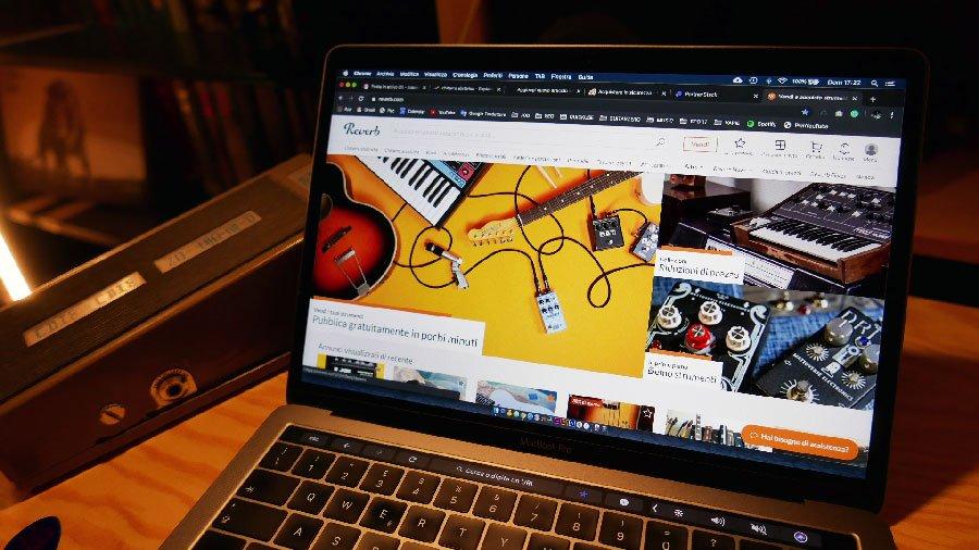 reverb vendita e acquisto strumenti musicali