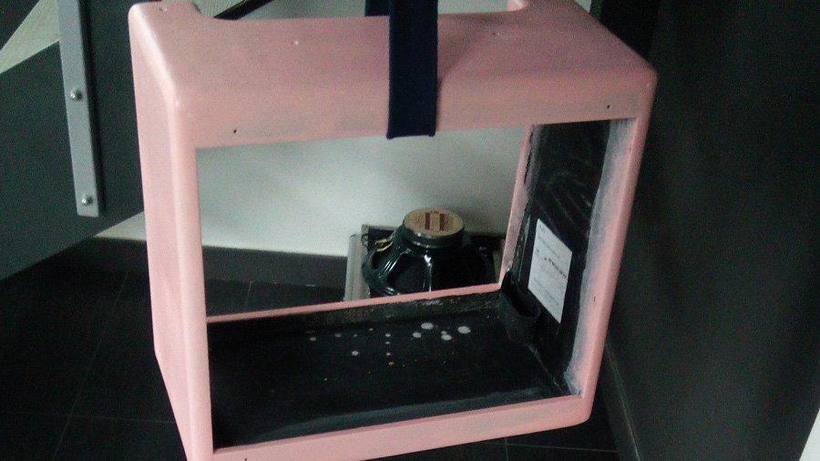 cassa amplificatore chitarra cabinet verniciatura