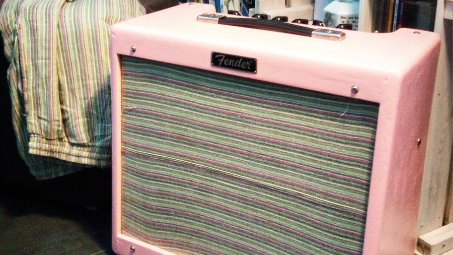 fender blues junior shell pink surf